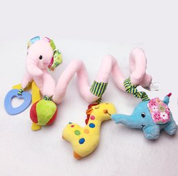 soft infant elephant toy baby crib revolves around the bed stroller hanging toy develop educational toy with Teether