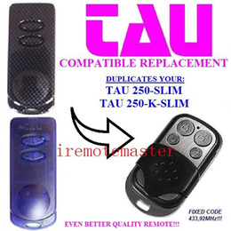 Favorite price! For TAU 250-SLIM,250-K-SLIM compatible remote control replacement garage door opener Fixed code 433.92MHZ