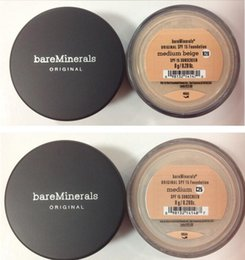 Wholesale Newest makeup original Minerals Foundation g g SPF15 NEW Click fairly light medium beige tan light mineral veil medium fair Top quality