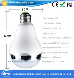 Smart Bulb Wireless Bluetooth Audio Speakers W E27 LED Light Music Color Changeable App Control By Iphone