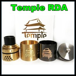 Wholesale 26650 Temple RDA Clone Rebuildable Ecig DIY Atomizer mm Diameter Dual Post Atty With Extra AFC Ring PEEK Insulator DHL