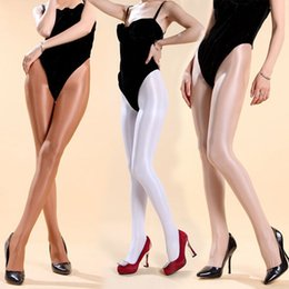 Wholesale 70D Pantyhose Super shiny Stockings sleek front crotch pantyhose sexy women transparent velvet solid tights one size