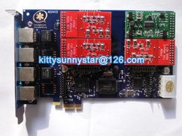 Wholesale AEX410 FXO FXS PCI Express Asterisk card TRIXBOX IP PBX ZAPTEL analog card