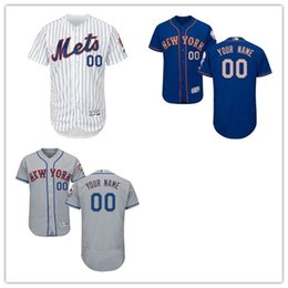 Wholesale 30 Teams Men s MLB New York Mets Majestic Flexbase Authentic Collection Custom Jersey Stitched custom any name with