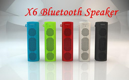 Wholesale X6 Bluetooth Wireless Portable Speaker X6 sport outdoor bluetooth speaker multi colored radio function options for iPhone iPod iPad Samsung