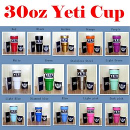 Wholesale The best Christmas Gifts oz Colors Yeti Rambler Tumbler Cup Coolers Powder Coated Bilayer Vacuum Insulation Cup Yeti Tumbler Mug