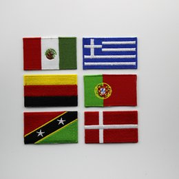 embroidered fabric iron on flag sticker patches for clothing,free shipping each country flag badge 10pcs random shipments