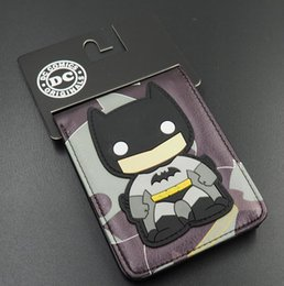 Wholesale Animated Cartoon Wallet Pop Heroes Batman Brieftasch Q version Batman Superman Flash Wallet Young Student Personality Purse