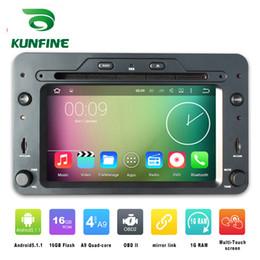 Descuento consola gris Jugador de la navegación del coche DVD GPS del coche del androide 5.1.1 de la base 800 del cuadrángulo 800 * 480 para Alfa Romeo 159 2005 adelante Radio 3G Wifi Bluetooth KF-V2260Q