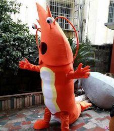 Wholesale Factory direct sale mascot Adult Orange Shrimp Mascot Costumes Cartoon Costumes Advertising Costumes