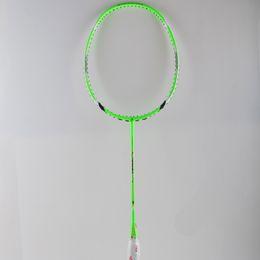 Wholesale High Quality Sport dexterous Badminton Rackets green Durable Badminton Racket Racquet Carbon Fiber Badminton Racket Own brand