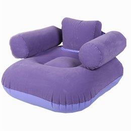 Wholesale XIANGJUN modern minimalist single inflatable beanbag sofa leisure thickening flocking thicker cushion dual use folding chair