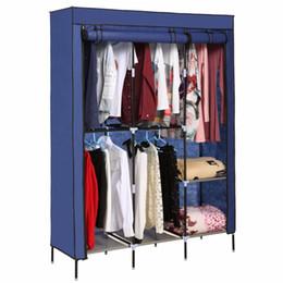 Wholesale Nonwoven Wardrobes Portable Simple Closet Dustproof Storage Cloth Cabinet Color Shelves Hanging Shoes Clothes Organizer