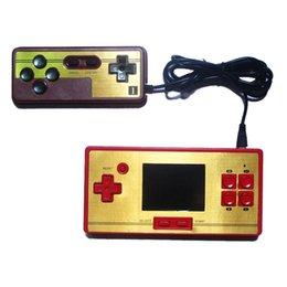 Wholesale fc pocket inch video game color lcd screen games player station bit handheld game console with game double handle