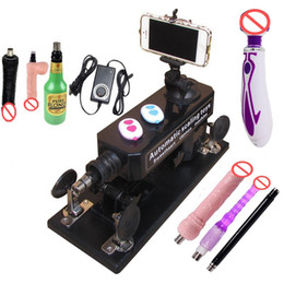 Wholesale 2016 Newest Upgrade Affordable Sex Machine for Men and Women Automatic Masturbation Love Robot Machine Set Adult Sex Toys with Many Dildos