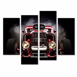 Wholesale LK4132 Panel Oil Painting Automobile Retro Vintage Wall Painting Art Canvas Prints Wall Art Painting Pictures Print On Canvas