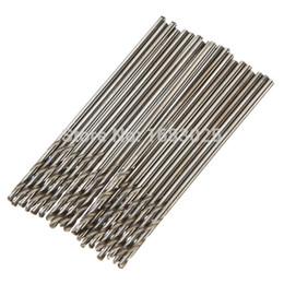 Promotion forets en métal Brand New 20pcs Saintsteel Micro Durable Hétéro Twist Shank Mèches Spiral 1.0mm 30mm