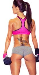 Wholesale Womens Sports Shorts Athletic Gym Workout Fitness Yoga Short Black Gray Rose
