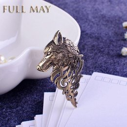 Wholesale Brand vintage gold silver Brooches for women men lapel pin wolf collar broches jewelry fashion Brooch pins Bijoux broche cristal