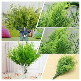 Wholesale 7 Branches Artificial Asparagus Fern Grass Plant Flower Home Floral Accessories