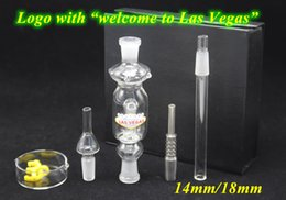 Wholesale 2016 New Style Micro NC Kit With quot Welcome To Las Vegas quot Logo mm mm Titanium Nail Glass Dish Glass Dab Rigs Glass Bongs