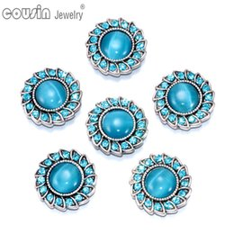 New Arrivals 18mm snap button Jewelry Opal & Rhinestone snap button Fit 18mm snap button Bracelets & Bangle Necklace KZ0188e