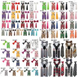 Wholesale 3Pcs Set Baby Suspenders Children s Boys Bow tie Kid Suspender Set Elastic Adjustable Y Back Braces Kids Ties Wedding L300 M