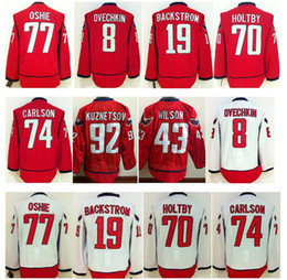 Wholesale Ice Hockey Washington Alexander Alex Ovechkin Jersey TJ Oshie Braden Holtby Nicklas Backstrom Evgeny Kuznetsov Wilson Red White