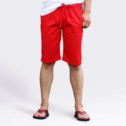 Wholesale Hot Sale Men s Casual Short Pants Adjustable Waist Elastic Casual Shorts For Men Cotton Red Color Summer Men s Hot