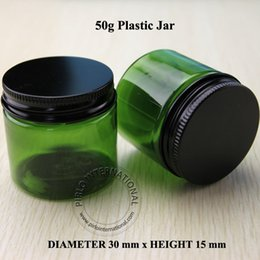 Wholesale 50g D50 H48mm PET cream jar cosmetic box with screw aluminum cap cosmetic packaging competitive price