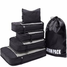 Wholesale Best Seller Lightweight Travel Packing Cubes With Laundry Shoe Bag Suitcase Compression Cubes for Lage Organizer