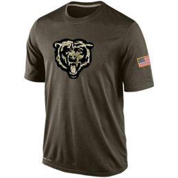 Wholesale Bears T Shirts cheap rugby football jerseys Chicago Salute To Service Banner Wave Black Gold Collection Tshirts freeshipping