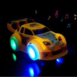 Wholesale New Arrival Stunning LED Universal Music Car Toy Automatic Steering Lighting Car Toy Best Gift For Kids