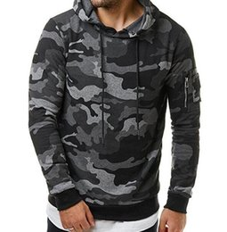 Hoodies Men Autumn Men Military camouflage sweatshirt Pullover Casual Hip hop Hoodies & Sweatshirts Plus velvet 3D hoodies