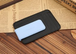 Wholesale JINBAOLAI foreign trade men s first layer of leather beauty money clip magnetic buckle leather wallet clip Money