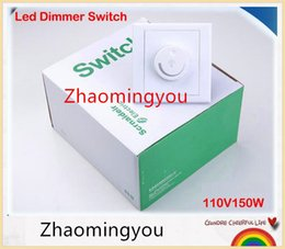 YON Free shipping 1pcs LED Dimmer Switch 110V 150W Brightness Driver Dimmers For Dimmable LED lighting lamp