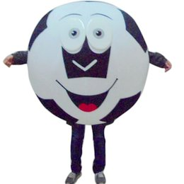 Wholesale Fancytrader Soccer Ball Mascot Costume Fancy Dress Football Costumes Outfit Adult Size Blue or Black For Advertising