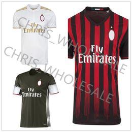 Wholesale 2016 AC Milan thai quality soccer jerseys Home away BALOTELLI ADRIANO man FC third soccer jerseys custom football shirt wear sets