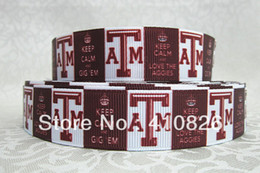 Wholesale ribbon inch mm ATM sport printed grosgrain ribbon yards roll for headband hair tie