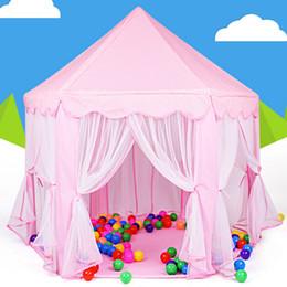 Cabrito casa tienda de campaña en Línea-Portable Kids Play tiendas de campaña Ultralarge esgrima para niños Baby Fence niñas Princesa Castillo interior Juguetes al aire libre Casa de juegos VE0071