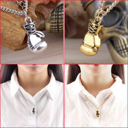 Wholesale High Quality Boxing Gloves Pendant Necklaces Fashion Jewelry New Design Charm Sport Necklaces For Men Women