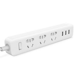 Promotion adaptateur secteur pour la télévision Xiaomi Mi Smart Power Socket Portable Strip Plug Adapter avec 3 Port USB pour Smartphone TV Tablet iPhone Xiaomi livraison gratuite de haute qualité