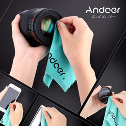 Wholesale Andoer Cleaning Cloth Screen Glass Lens Cleaner for Canon Nikon DSLR Camera Camcoder iPhone iPad Tablet Computer Individual OPP Bag D2669