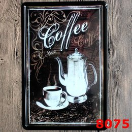 Wholesale 20X30CM Vintage Tin Signs Metal Plate Shabby Chic Coffee Shop Decorative Retro Wall Poster
