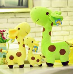 Grossiste-7''18cm jouet en peluche de girafe mignonne jouets en peluche de cerf animal poupées colorées pour bébé enfants de haute qualité à partir de girafe haute fabricateur