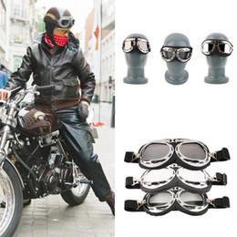 Cascos de carreras de la vendimia en Línea-Vintage Motocicleta Carting Gafas Gafas Mirror Piloto Motociclista Casco Gafas de Sol Scooter Cruiser Gafas Off-Road Motocross Racing Gafas