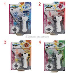 Wholesale EMS Toy Battle Beyblade Spinning Top Plate Gyroscope Beyblades with Wire Launcher handle Classic fun Toys Best Gift for boy