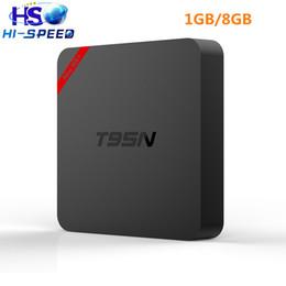 T95N MINI MX+ Amlogic S905X android TV box Quad Core 1G 8G 4K add-ons WiFi smart tv box