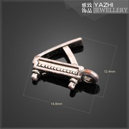 Wholesale Piano alloy charm pendant Antique silver DIY jewelry accessory ZH4209 DIY jewelry Findings Components