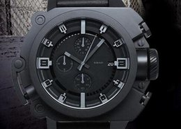 The Dark Knight Rises Limited Edition DZWB0001 DZ4243 Black Silicone Men Sports Watches Blue light Men's Watch